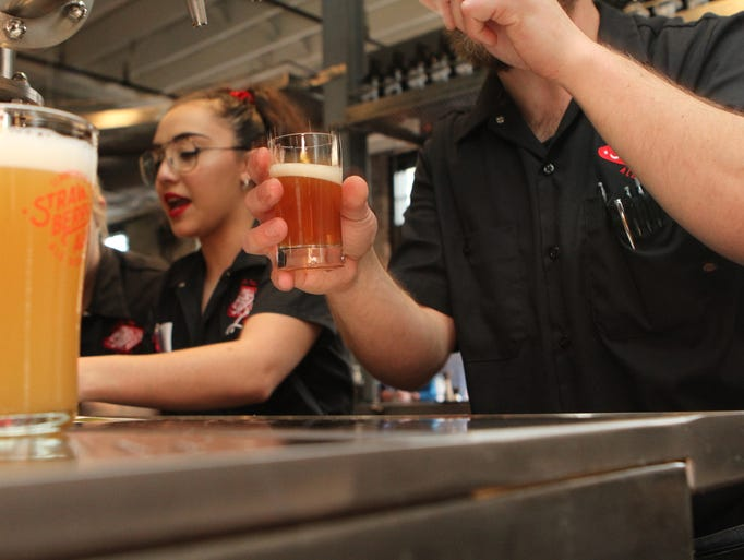 Strawberry Alley Ale Works hosted a preview party Saturday.