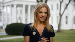 Counselor to President, Kellyanne Conway, prepares