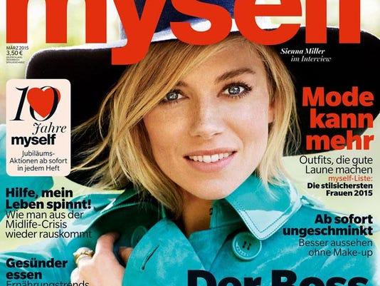 Sienna Miller on Myself magazine cover