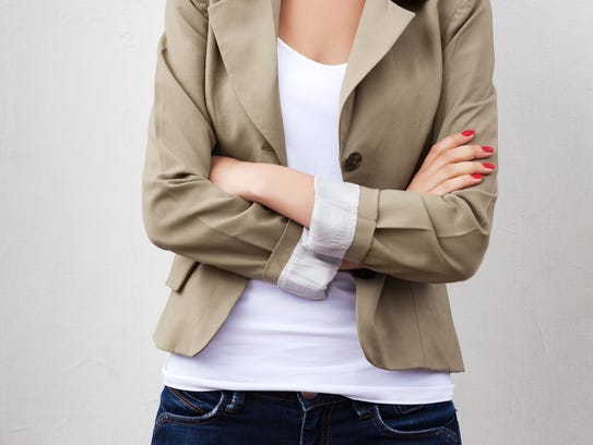 Jeans with a blazer is a classic combination.