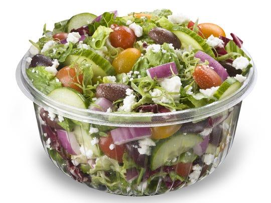 Salad And Go's Greek salad.
