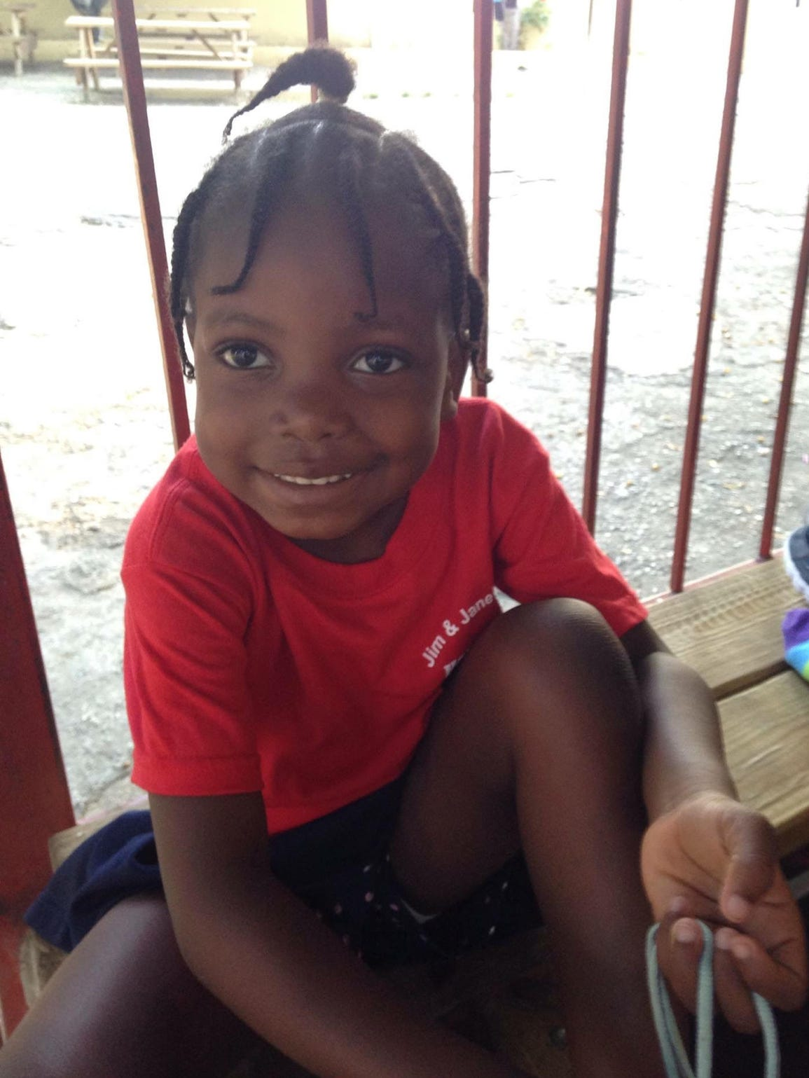 Chika, 4, in her second year at the Have Faith Haiti