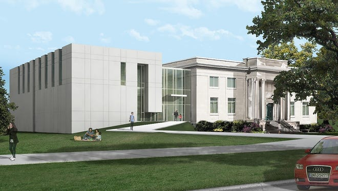 Rendering of proposed expansion of National Music Museum in Vermillion.