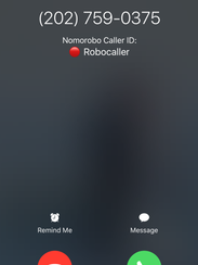 Blocked calls on my iPhone using Nomorobo.