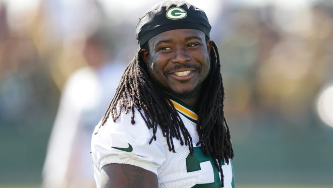Seahawks running back Eddie Lacy will face his former team, the Packers, in Week 1 this NFL season.