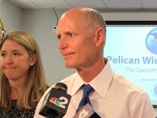 Gov. Rick Scott visits Pelican Wire Co. for a jobs
