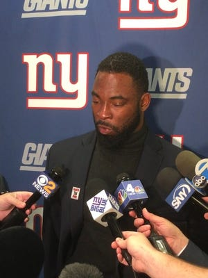 Football star Justin Tuck will appear at a Turkey Drive in Florham Park on Friday.