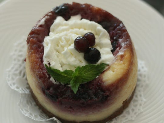 Huckleberry cheesecake.