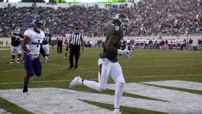 Donnie Corley's 9-yard touchdown catch from Tyler O'Connor brought the Spartans to within 47-37 midway through the fourth quarter.