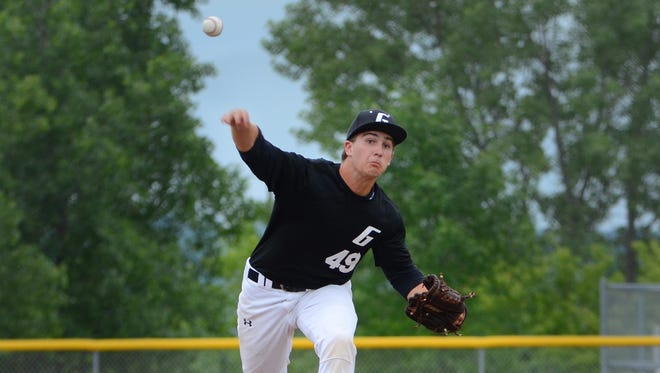 Greendale's Sean Sanchez pitches against Pewaukee during the regular season. Greendale meets Franklin in the sectionals Monday.