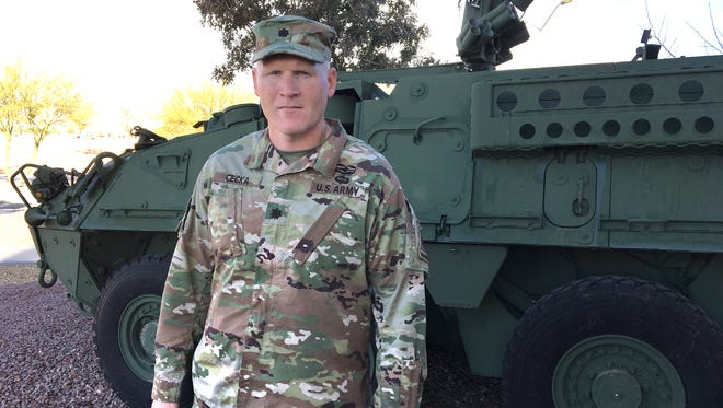 Lt. Col. Jake Cecka is the new commander for the 16th Engineer Battalion with 1st Brigade at Fort Bliss.