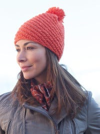 This hat is easy to make, and it is a good introduction to the Caron United yarn.