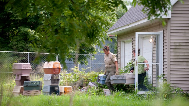 Shiawassee County officials removed more than 100 cats from Nancy Bischof's cat sanctuary between Perry and Laingsburg in late August.