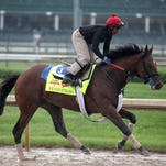 Wicked Strong trains April 28 at Churchill Downs.