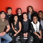 """American Idol XIII"": Top 8: Clockwise from left, Dexter Roberts, Alex Preston, Jessica Meuse, Caleb Johnson, C.J. Harris, Malaya Watson, Sam Woolf and Jena Irene."