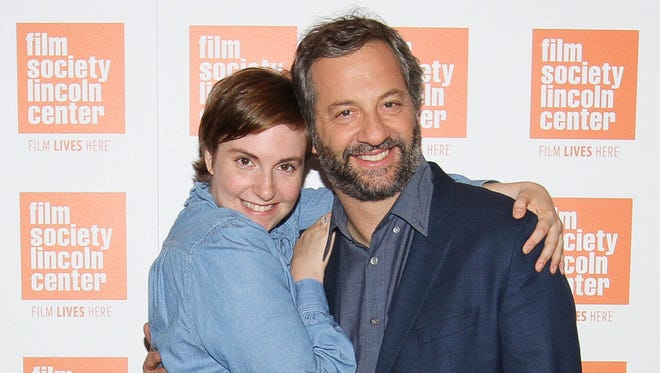 Lena Dunham and Judd Apatow in 2015.