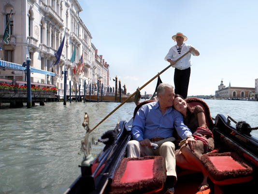 """""""Italy, Venice, couple riding in godola, woman leaning against man"""""""