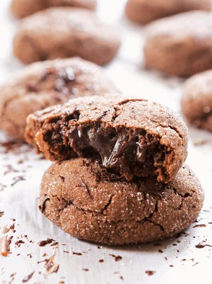 """Molten lava cake cookies from """"Cookie Remix"""" by Megan Porta."""