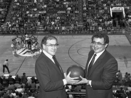 Mel (left) and Herb Simon bought the Indiana Pacers in 1983.