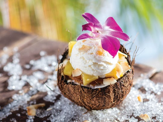 Coconut Grande is a new dessert at Bahama Breeze that