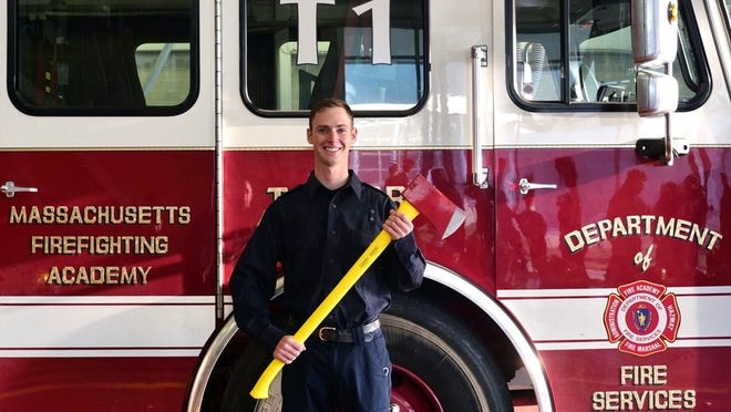 Berkley Firefighter Steven Masterson graduated from the Massachusetts Firefighting Academy on Wednesday, Nov. 4.