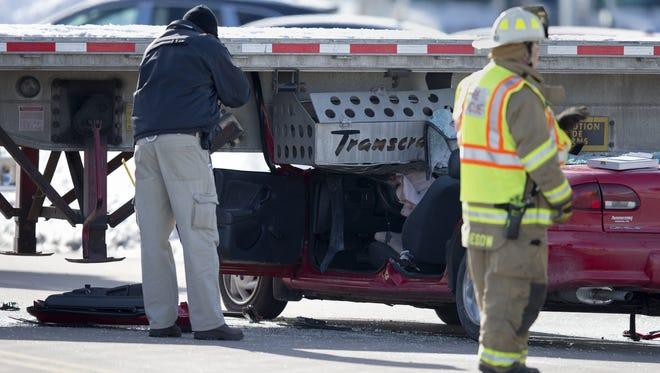 The condition of a Town of Menasha crash victim was unknown Saturday.