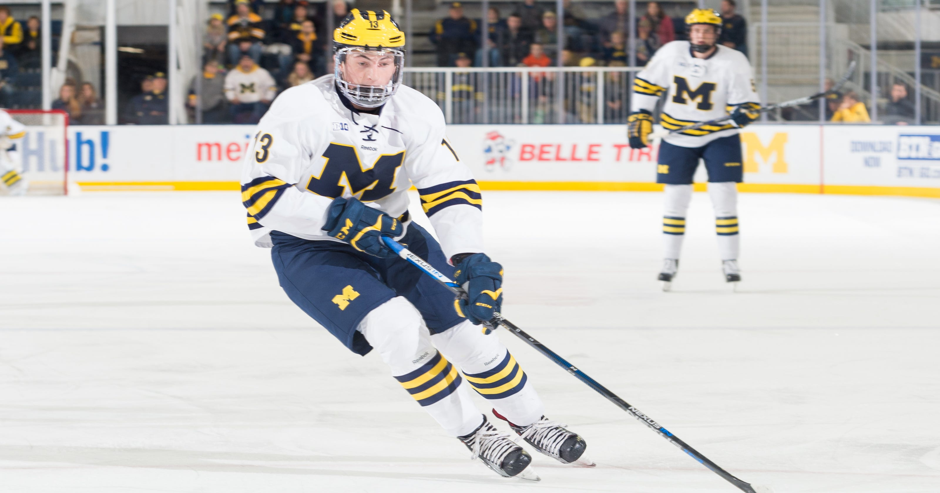 brand new d679d 58fb3 Michigan defensemen Zach Werenski and Michael Downing turn pro