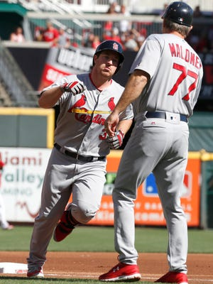 The Cardinals' Jedd Gyorko, left, has plenty of power and will qualify at second base, shortstop and third base in most leagues.