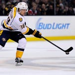 Predators forward Viktor Arvidsson has three points in eight games since returning from the American Hockey League.