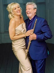 Celebrated flutists Sir James Galway and Lady Jeanne