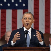 President Obama at this year's State of the Union address.