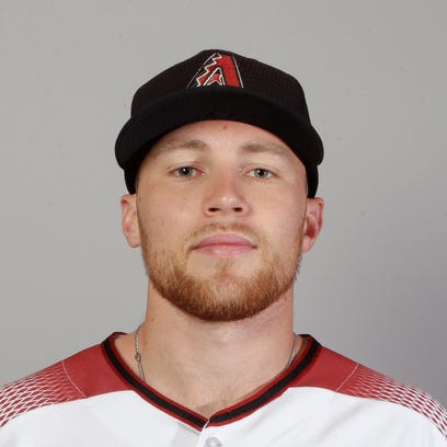 This is a 2018 photo of second baseman Brandon Drury