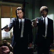 "John Travolta and Samuel L. Jackson star in a scene from ""Pulp Fiction."""