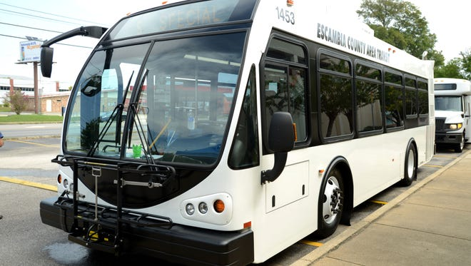 An Escambia County Area Transit bus.