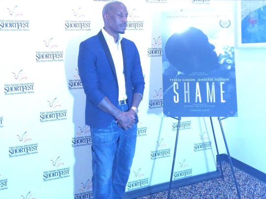 "Actor and musician Tyrese Gibson poses at the Palm Springs International ShortFest prior to the screening of his film ""Shame."" (June 2016)"
