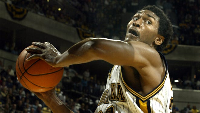 No. 21: Before becoming Metta World Peace and the Panda's Friend, Ron Artest was lockdown defender and capable scorer from 2001-06. He averaged 16.5 points and 5.2 rebounds. Many fans remember Nov. 19, 2004, when he charged into the stands near the end of a Pacers-Pistons game after he was hit by a thrown beverage cup.