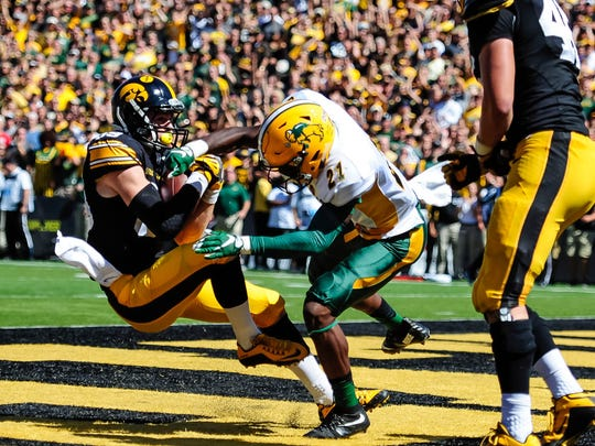 Iowa's Matt VandeBerg, the team's top receiver in 2016 until his likely season-ended injury, nearly started his Hawkeyes career as a grayshirt.