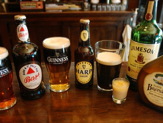 Authentic Irish drinks.