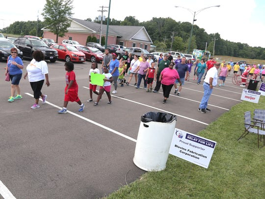 Volunteers for the Richland County Relay for Life complete