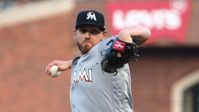 Marlins starting pitcher Dan Straily was suspended five games for intentionally throwing at Buster Posey.