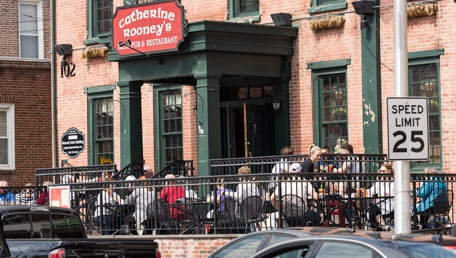 Delaware tops the list of national restaurant sales per capita. In Newark, customers gather at Catherine Rooney's.