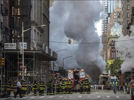Steampipe explosion NYC