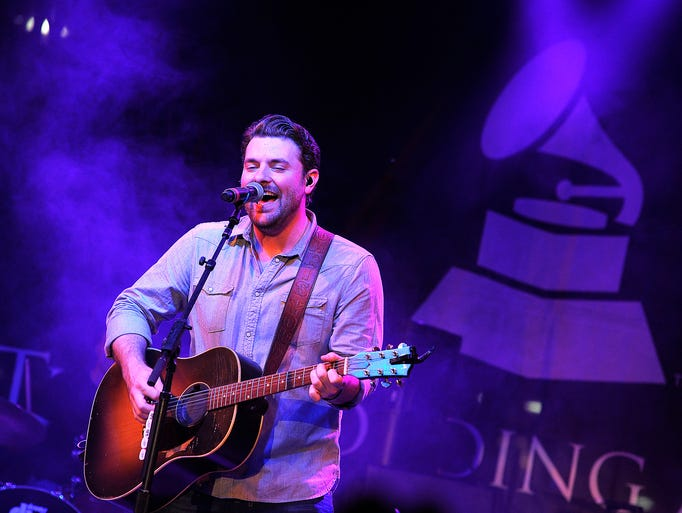 Chris Young performs at the Grammy Block Party at Owen Bradley Park. Tuesday May 13, 2014, in Nashville, TN.