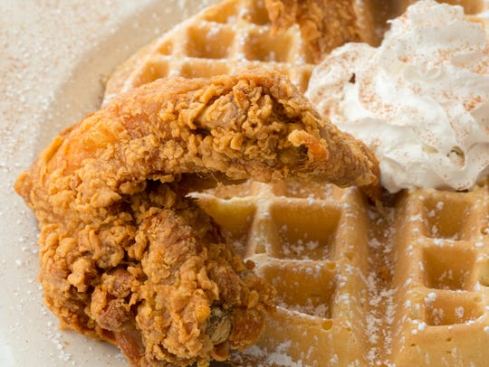 Chicken and waffles is one of the signature dishes