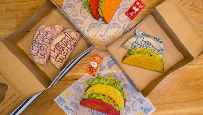 Taco Bell will be offering a National Taco Day Gift Set at participating restaurants Oct. 4.