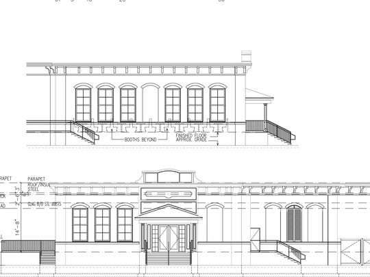 The proposed design of the Colony Grill restaurant in Port Chester.