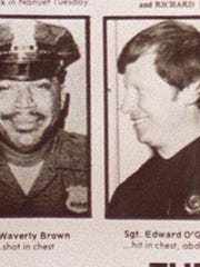 Officer Waverly Brown, left, and Sgt. Edward O'Grady
