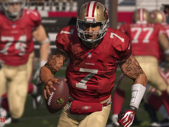 Nevada's Colin Kaepernick gets a new and more detailed look starting from an improved facial model all the way down to his trademark tattoos.