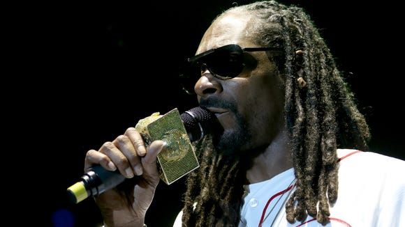 Snoop Dogg, shown performing at the Bunbury Music Festival