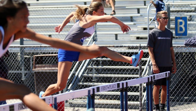 Southwest Florida athletes compete at the 54th Annual Eagle Invite at Naples High School on Saturday, March 3, 2018.
